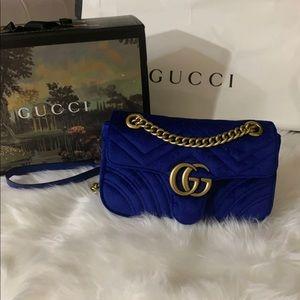Handbags - GG maramont cobalt blue